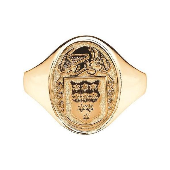 Ladies Irish Coat of Arms Ring