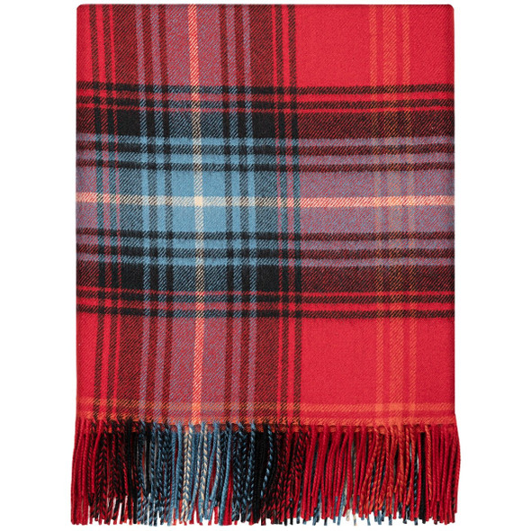 Lochcarron Ruby Lambswool Blanket