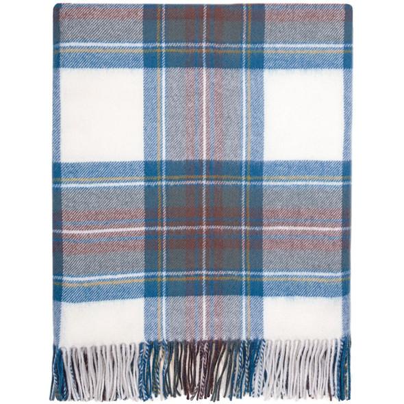 Stewart Blue Dress Lambswool Blanket