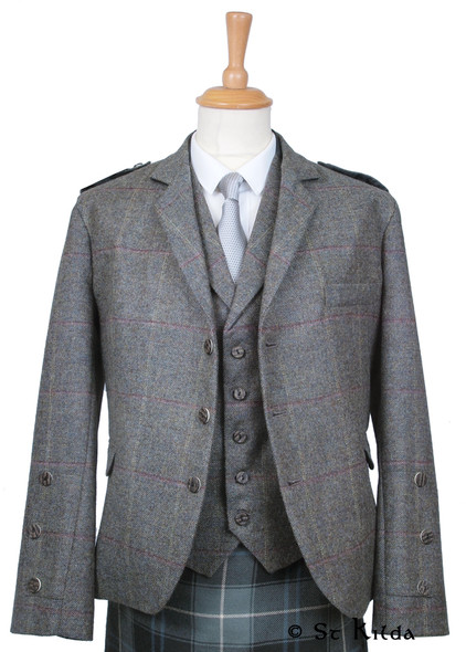 Tweed Wallace with Braemar Cuff and Plain Epaulettes