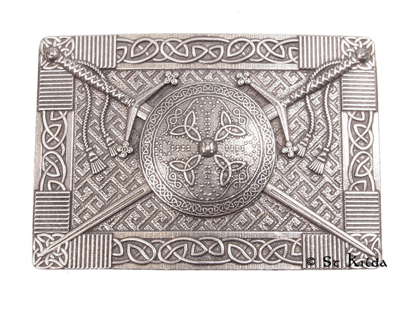 C-BBCLAY Claymore and Targe Belt Buckle