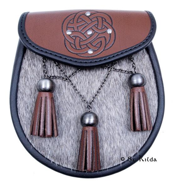 Sporran - Brown Leather Antique