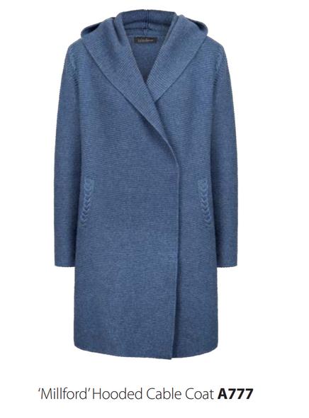 Millford Hooded Coat - Silver Gull
