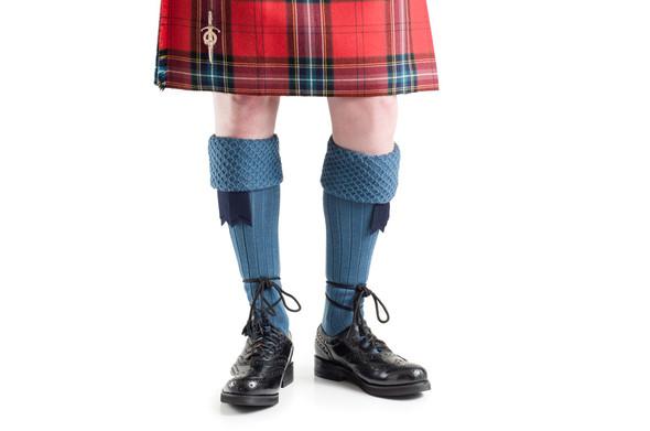 Highland Blue Kilt Hose