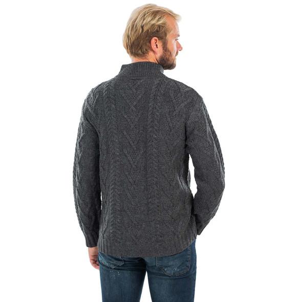 Mens Zip Neck Fisherman Sweater