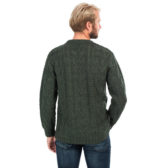 Mens Merino Aran Sweater