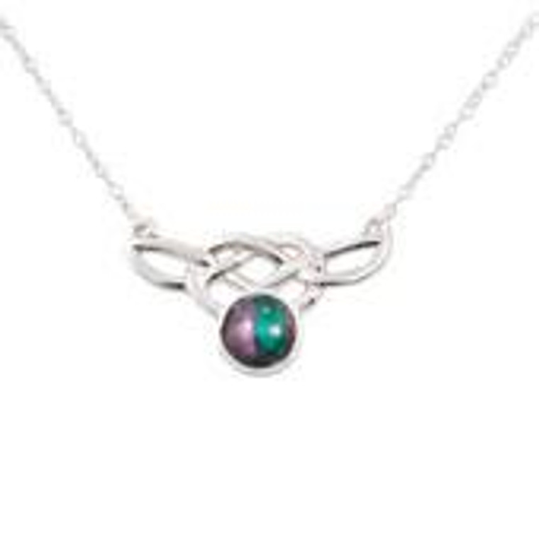 Heathergem Celtic Silver Necklace