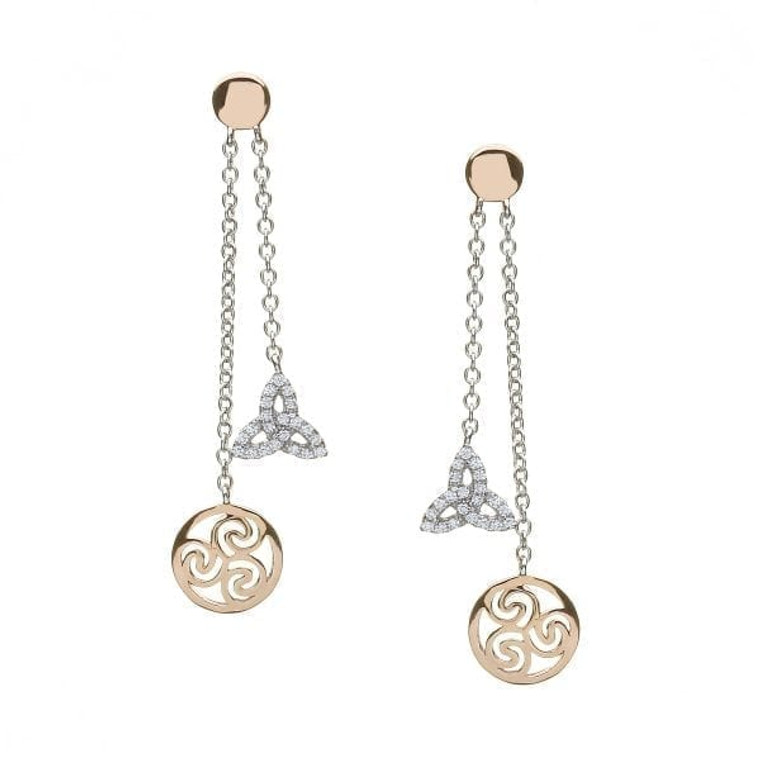 Sterling Rose Gold Earrings