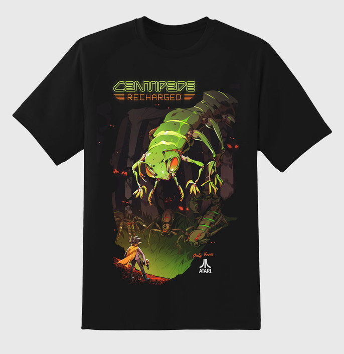 Four-color overprint of the Centipede: Recharged Key Art on the front
