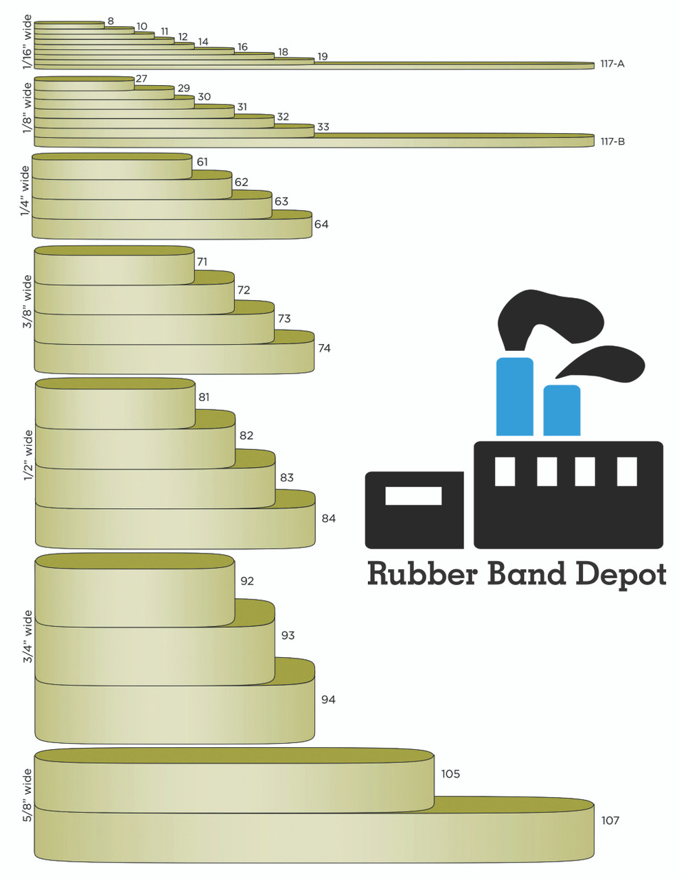 """#33 Rubber Bands - 3-1/2"""" x 1/8"""""""