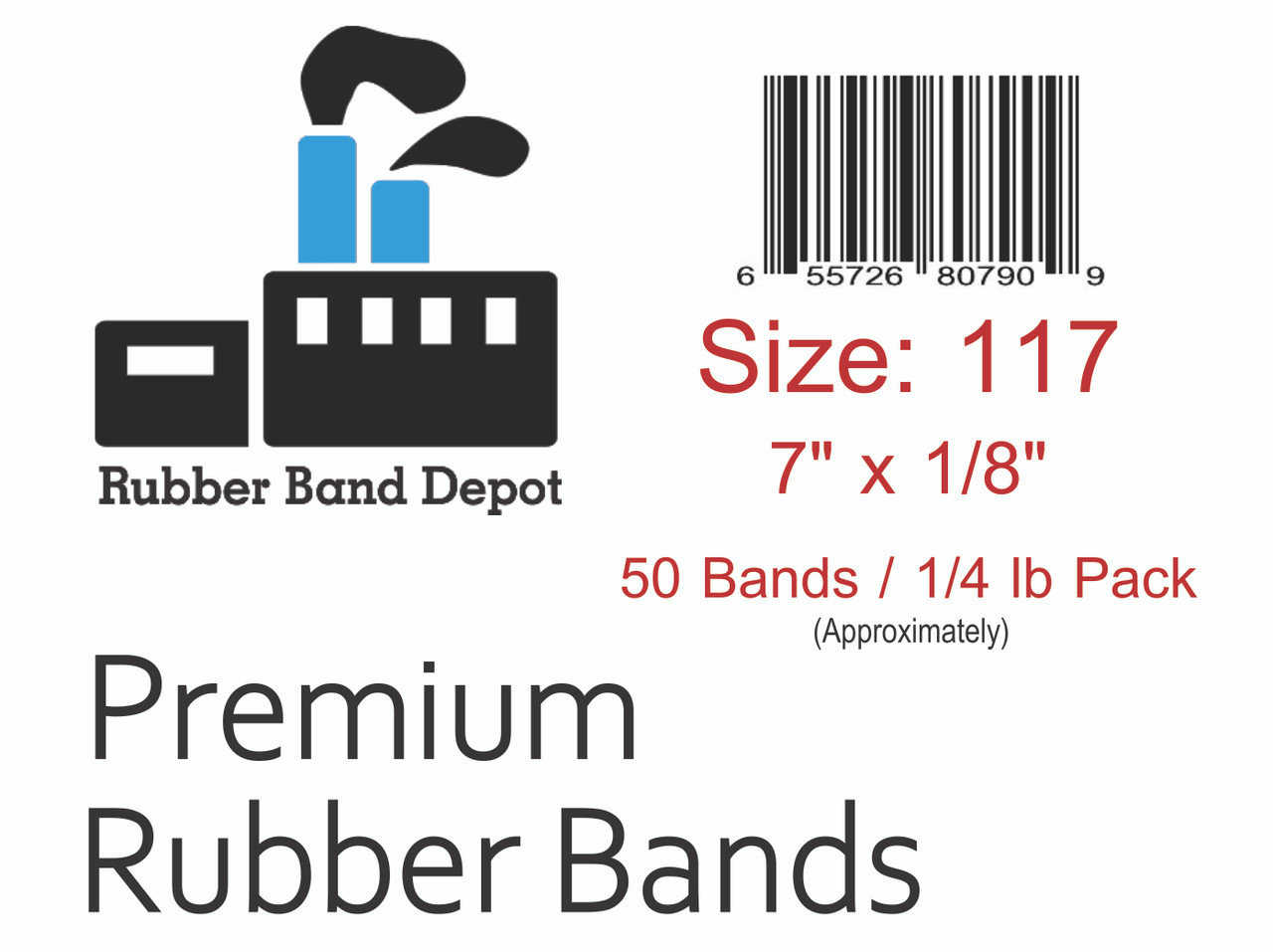 """#117 Rubber Bands - 7"""" x 1/8"""""""