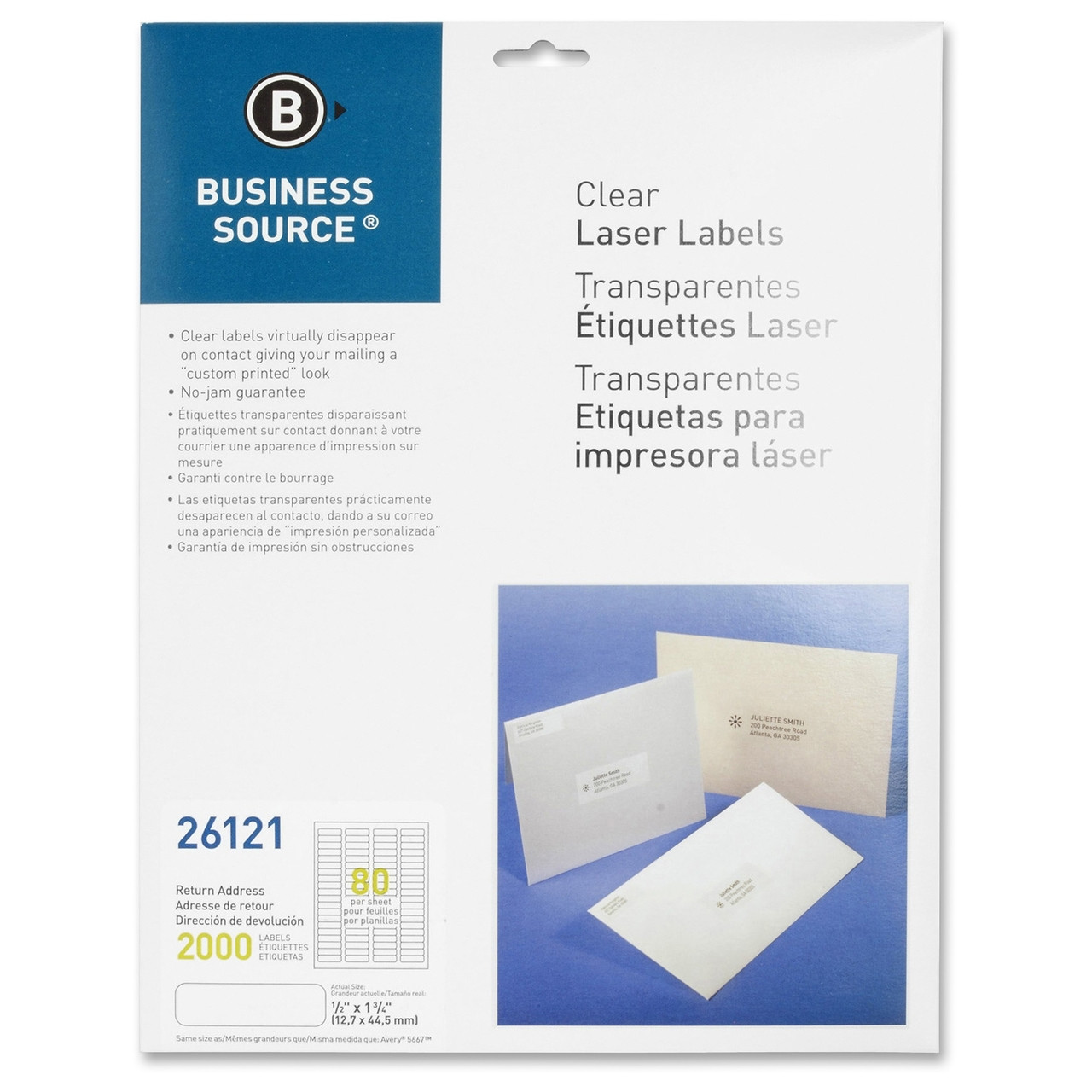 business source brand labels clear laser labels 80 up labels 1