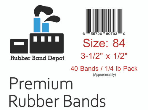 """#84 Rubber Bands - 3-1/2"""" x 1/2"""""""