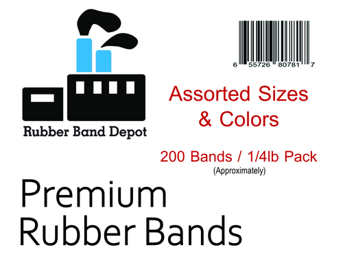 Assorted Color Rubber Bands - Assorted Sizes & Colors