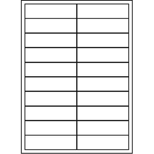 "Maco Brand Labels - 20 Up Labels - 1"" x 2"" - 20 Labels Per Sheet"
