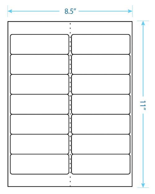 "Maco Brand Labels - 14 Up Labels - 1-1/3"" x 4"" - 14 Labels Per Sheet"