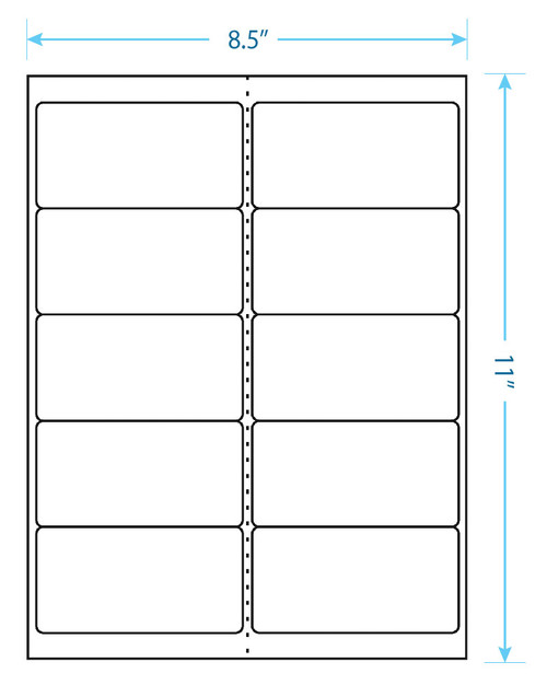 "Best Print - 10 Up Labels - 4"" x 2"" - 10 Labels Per Sheet"