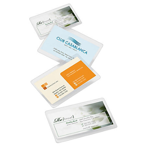 "5 Mil. - Business Card - Laminating Pouches - 100 Pouches - 2-1/4"" x 3-3/4"""