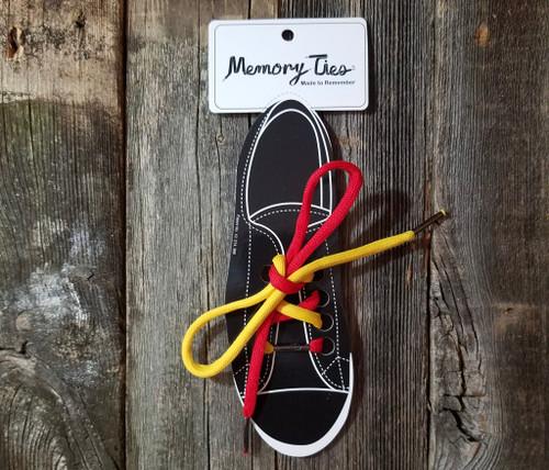Bicolored Memory Ties™  Training Shoelace