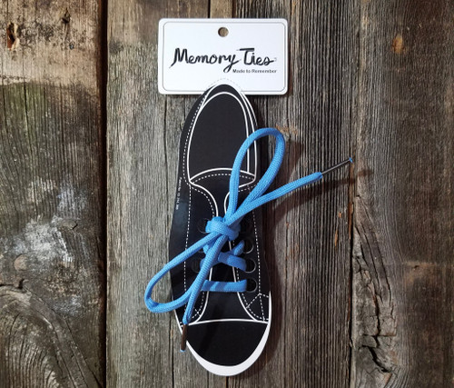 Light Blue Memory Ties™ Training Shoelace