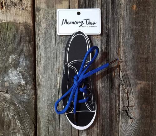 Royal Blue Memory Ties™ Training Shoelace