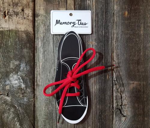 Red Memory Ties™ Training Shoelace