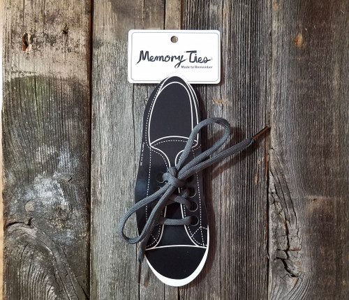 Gray Memory Ties™ Training Shoelace
