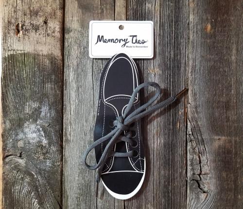 Gray Memory Ties™ Training Shoelace