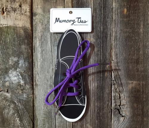 Purple Memory Ties™ Training Shoelace