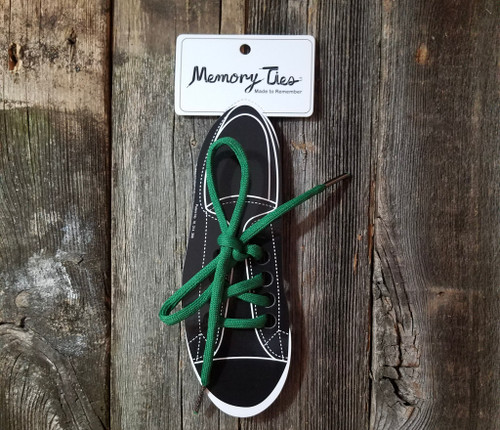 Forest Green Memory Ties™ Training Shoelace