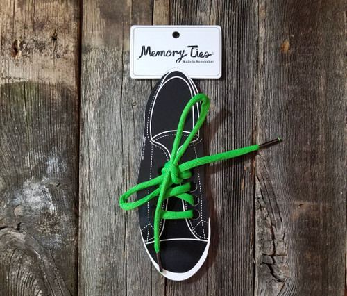 Lime Green Memory Ties™ Training Shoelace