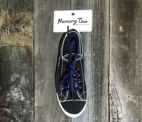 Navy Blue Memory Ties™ Training Shoelace