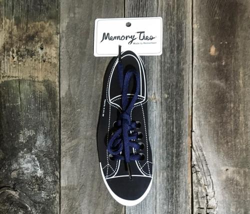 Navy Blue Memory Ties™ Training Shoelace