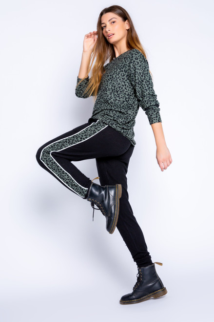 Banded Jogger Pant with Stripe 'Run Wild'