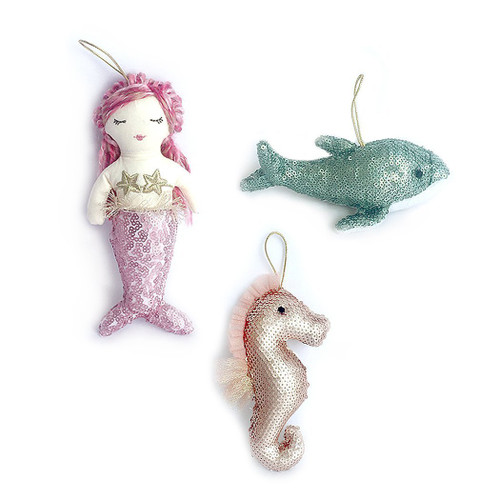 Sequin Ocean Toys and Room Decor Set