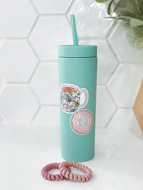 'Donut Worry' 16 oz. Tumbler and Hair Tie Set