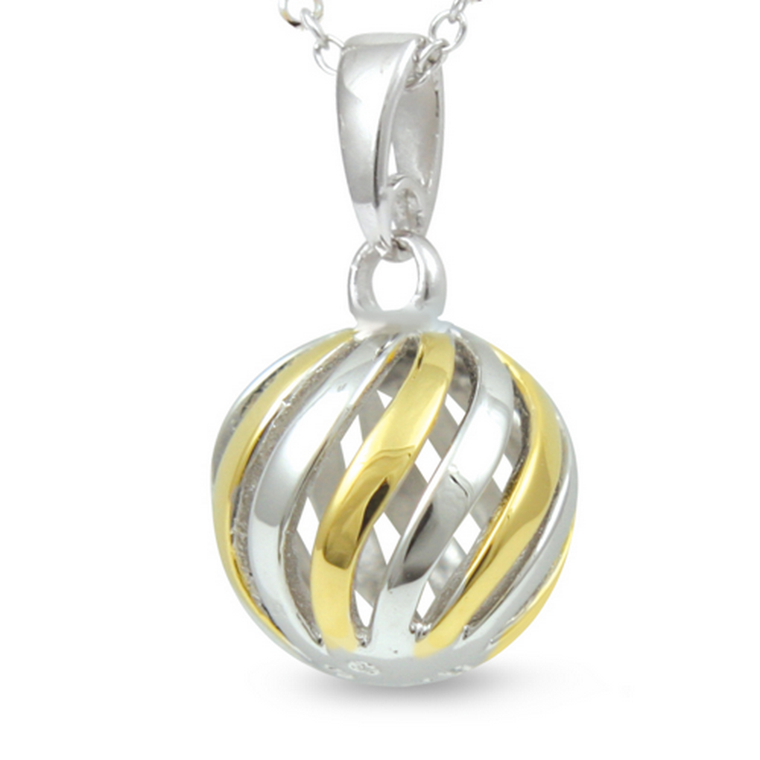Journey - With You All The Way (cute size, yellow gold) - sterling silver pendant
