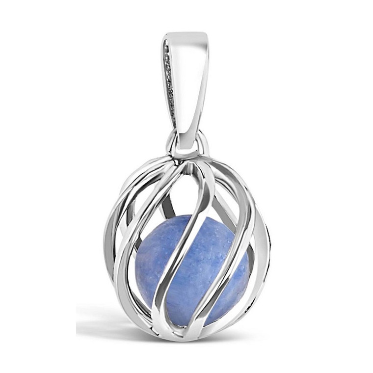 Celebrate a March birthday with a Blue Topaz birthstone necklace! Twist version