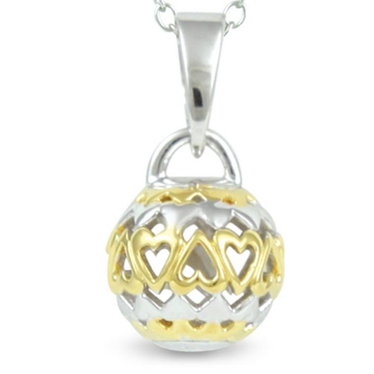 Forever Love - Real Love Lasts Forever (cute size, yellow gold) - sterling silver pendant
