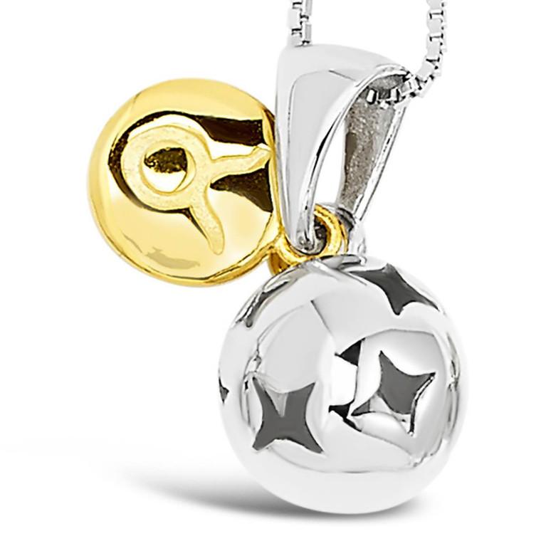 Zodiac silver pendant - Taurus - Apr 20 - May 20