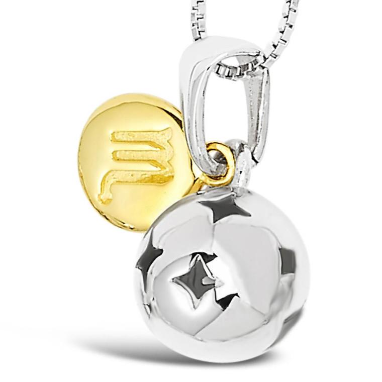 Zodiac silver pendant - Scorpio - Oct 23 - Nov 21