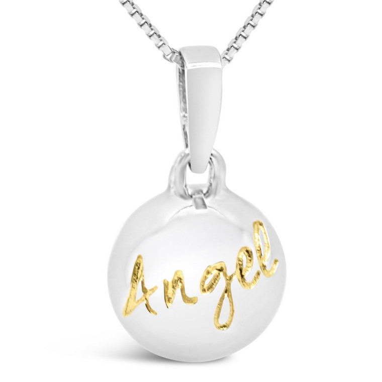 Angel - My Love, My Life - sterling silver pendant (cute)