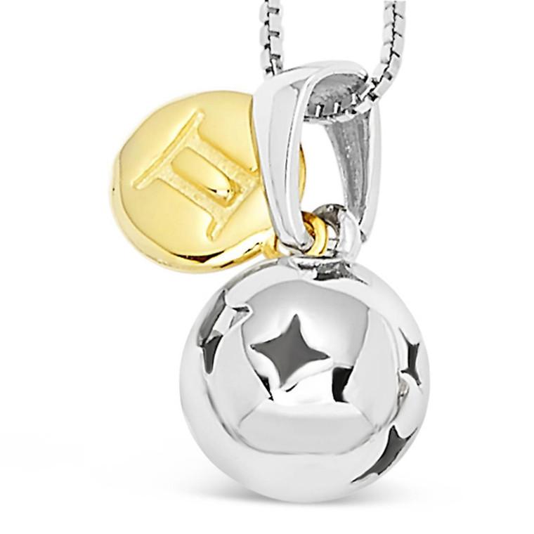 Gemini zodiac silver pendant with a gift - May 21 - Jun 20