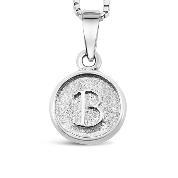Sterling Silver 'B' pendant