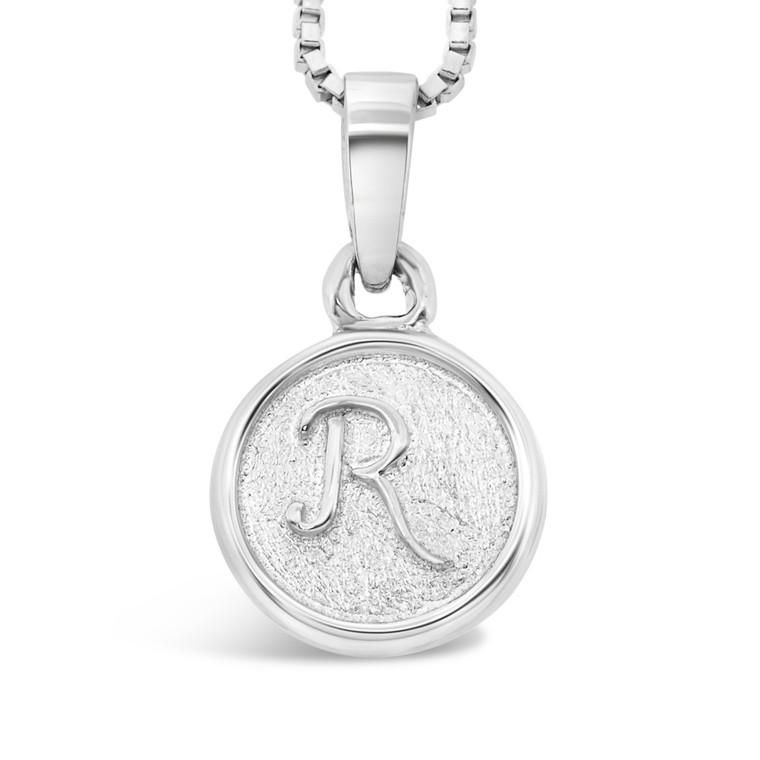 Sterling Silver 'R' pendant