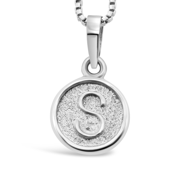 Sterling Silver 'S' pendant