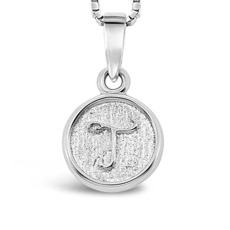 Sterling Silver 'T' pendant