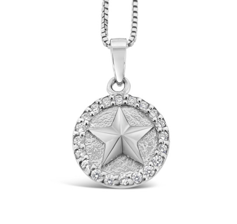 Shine! like the star you are - Sterling silver necklace with cubic zirconia stones