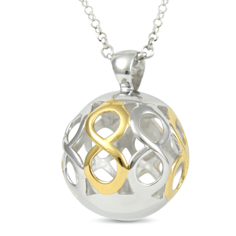 Infinity - my love for you has no limit- sterling silver pendant (16 mm)