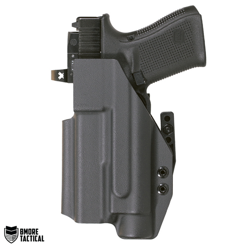 Body-facing Side of the Glock 19/19x/23/32/44/45 w/TLR-1 IWB Holster is slick and smooth for maximum comfort.